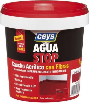 AGUASTOP CAUCHO FIBRAS GRIS...